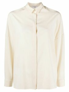 Peserico pointed collar loose-fit shirt - NEUTRALS