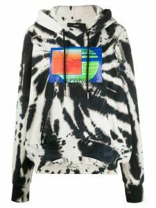 Diesel carabiner hook tie-dye hoodie - Black