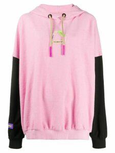 Natasha Zinko two-tone long sleeve hoodie - PINK