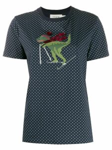 Coach short sleeve skiing dino T-shirt - Blue
