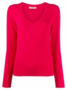 Twin-Set V-neck fitted jumper - PINK