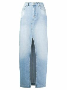 Twin-Set denim maxi skirt - Blue