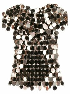 Paco Rabanne sequin-disc chain mail top - GOLD