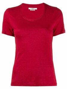 Isabel Marant Étoile U-neck slim fit T-shirt - Red