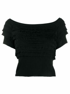 Philosophy Di Lorenzo Serafini tiered bardot knitted top - Black