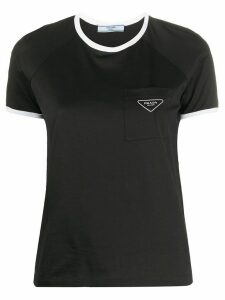 Prada logo plaque short-sleeved T-shirt - Black