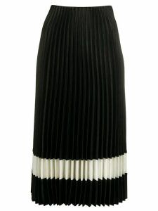 Theory two-tone pleated skirt - Black