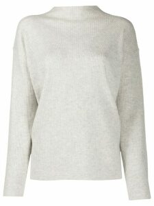 Calvin Klein mock neck ribbed jumper - Grey