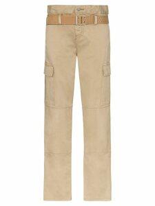 RtA Sallinger high-waist cargo trousers - NEUTRALS