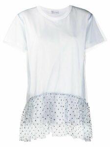 RedValentino tulle hem short-sleeved T-shirt - White