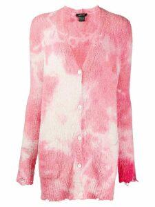 Avant Toi tie-dye effect cardigan - PINK