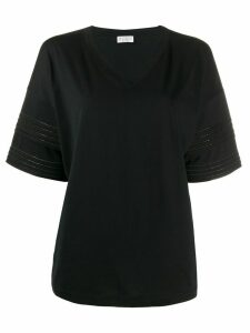 Brunello Cucinelli rhinestone-embellished cotton T-shirt - Black