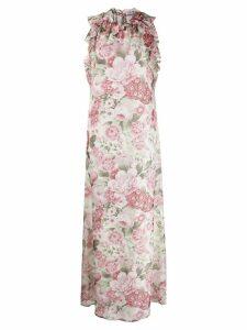 P.A.R.O.S.H. floral print maxi dress - NEUTRALS