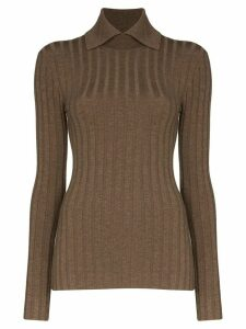 Totême Aviles collared jumper - Brown