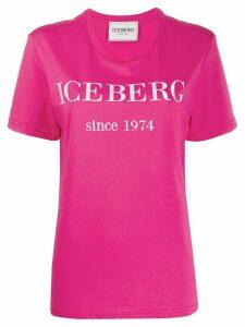 Iceberg logo print T-shirt - PINK