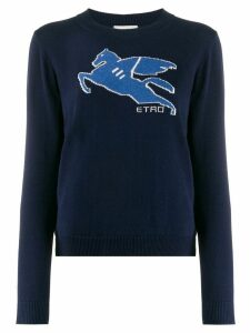 Etro contrast detail jumper - Blue
