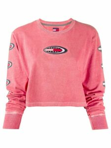 Tommy Jeans appliqué logo patch knit top - Red