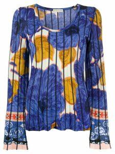 Etro floral pattern jumper - Blue