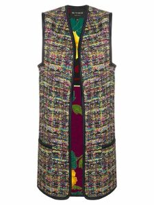 Etro embroidered open front vest - White