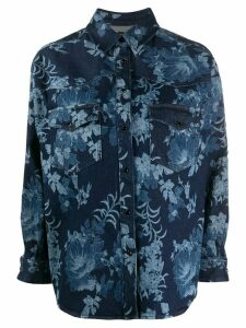 Etro floral denim shirt - Blue