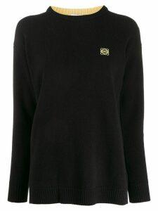 Loewe chest logo jumper - Black