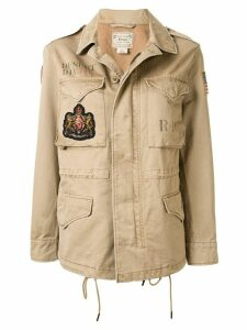 Polo Ralph Lauren military patch jacket - Brown