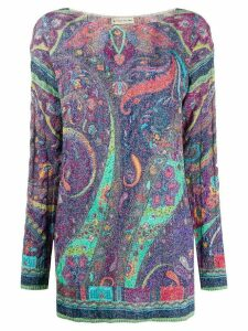 Etro paisley pattern jumper - Blue