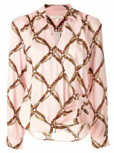 Jonathan Simkhai tie front draped blouse - PINK