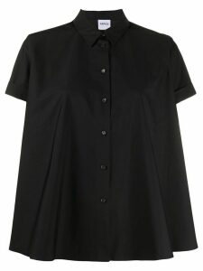Aspesi flared short sleeve shirt - Black