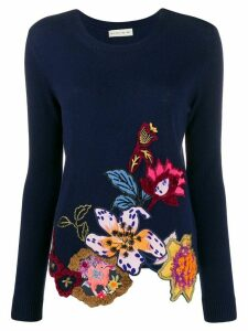 Etro floral embroidered jumper - Blue