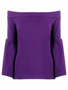 Etro off-the-shoulder blouse - PURPLE