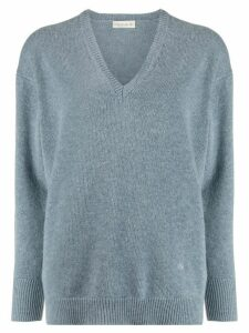 Etro ribbed V-neck jumper - Blue