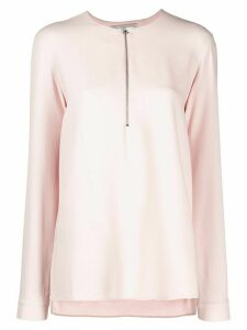 Stella McCartney zip-front blouse - PINK