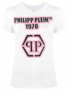 Philipp Plein embellished logo short sleeve T-shirt - White