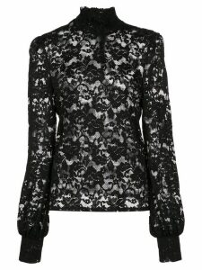 L'Agence lace constructed blouse - Black