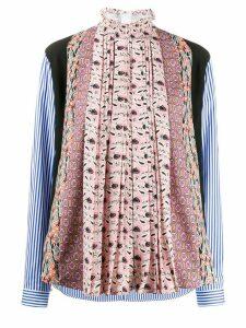 Prada patchwork blouse - PINK
