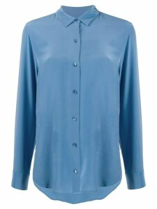 Equipment Essential loose-fit silk shirt - Blue