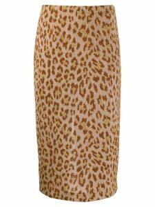 Semicouture leopard print pencil skirt - PINK