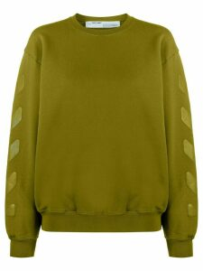 Off-White Arrows logo crew neck sweatshirt - Green