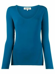 DVF Diane von Furstenberg slim-fit knit jumper - Blue