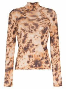 Nanushka tie-dye top - Brown