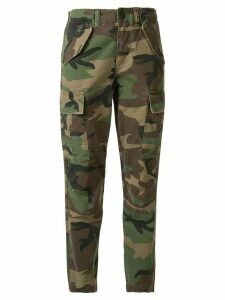 Polo Ralph Lauren camouflage print cropped trousers - Green