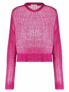 Miu Miu loose weave jumper - PINK