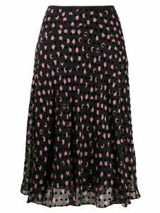 DVF Diane von Furstenberg Molly polka dot midi skirt - Black