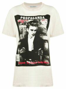 Acne Studios magazine-print T-shirt - NEUTRALS