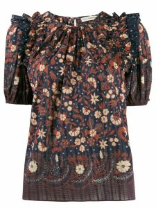Ulla Johnson Arbor floral-print top - Blue