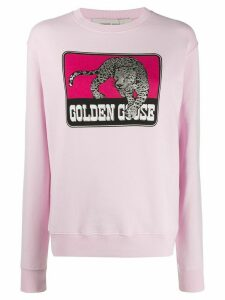 Golden Goose graphic-print relaxed-fit sweatshirt - PINK