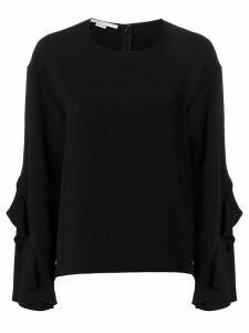Stella McCartney ruffle sleeve sweater - Black