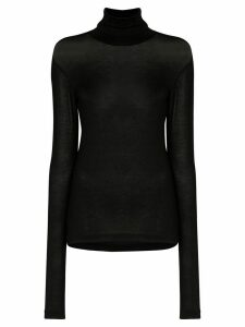 Totême fine knit polo neck - Black