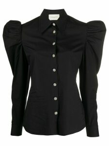 Giuseppe Di Morabito embellished ruched sleeve shirt - Black